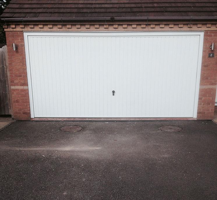 Cardale Steel Retractable Up Amp Over Double Garage Door In
