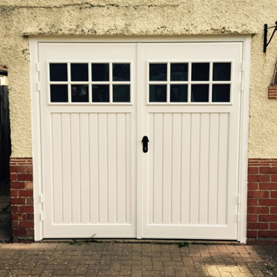 Cardale Abs Side Hinged Garage Door With Windows Elite Gd