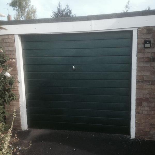Cardale Steel Side Hinged Garage Door 7030 Split In Balmoral Green