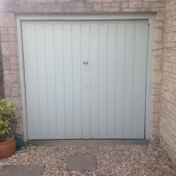 Green Garage Doors : Cardale steel retractable up over garage door in
