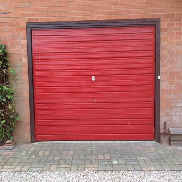 Cardale Steel Retractable Up Over Double Garage Door In Cream