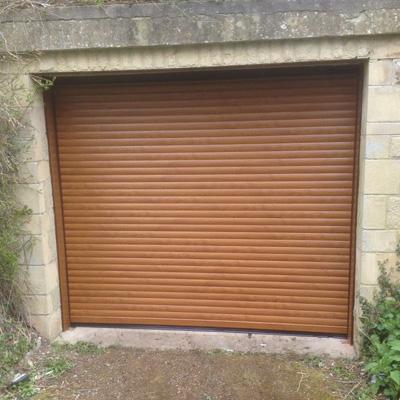 Thermaglide 55 Roller Garage Door In Golden Oak Elite Gd