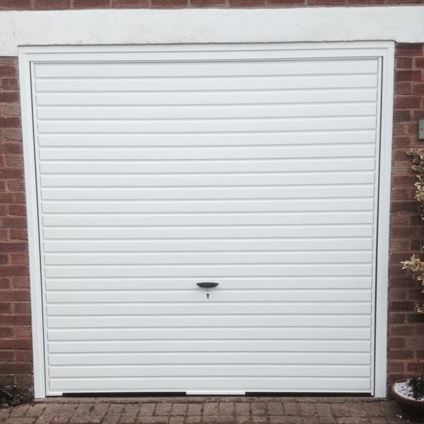 Novoferm Steel Canopy Up Over Garage Door In White Elite Gd
