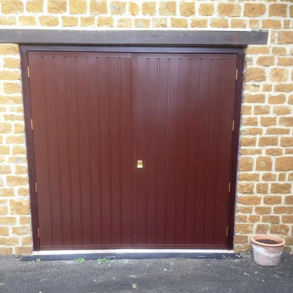 Brown Metal Garage : Cardale steel side hinged garage door in brown elite gd