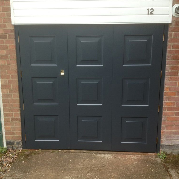 Cardale Steel Side Hinged Garage Door 70 30 Split In