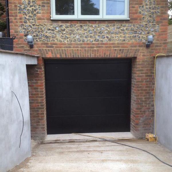 Novoferm Iso45 Sectional Garage Door In Black Elite Gd
