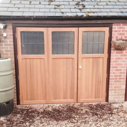Cardale Timber Side Hinged Garage Doors With Windows Elite Gd