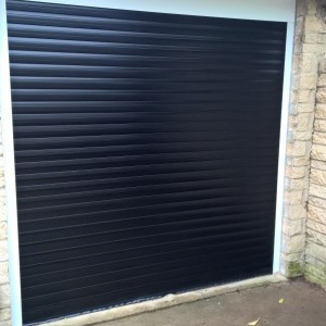 Black Thermaglide 77 Automated Roller Garage Door In Witney