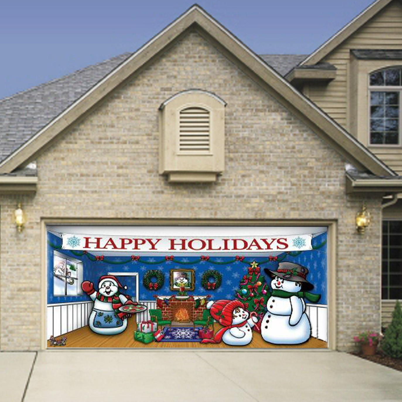 garage doors love christmas too