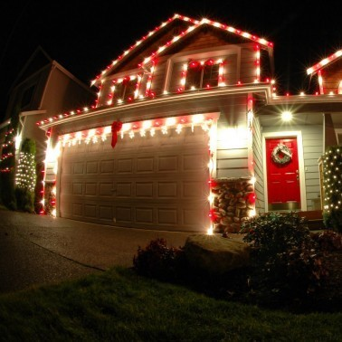 Here In The UK You Can Buy Magnetic Decorations From Amazon At A Fraction  Of The Price. Christmas Lights Garage Door