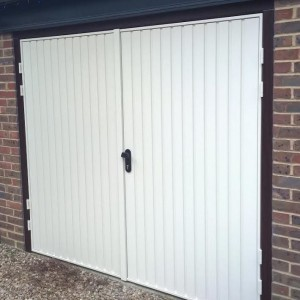 side hinged garage door brackley