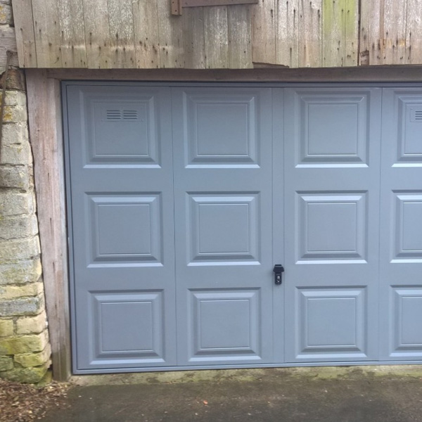 cardale novoferm steel georgian garage door in dusty grey with air vents elite gd. Black Bedroom Furniture Sets. Home Design Ideas