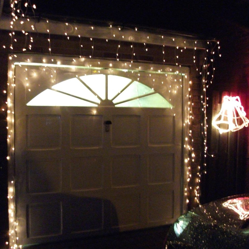 Lights On Inside Of Garage Door: Garage Doors Love Christmas Too!