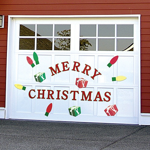 Garage doors love christmas too elite gd for Christmas garage door mural