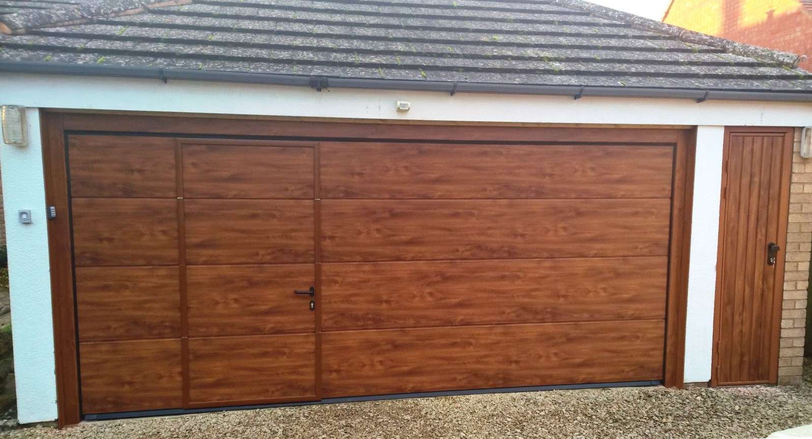 Sectional garage door project in warwickshire elite gd after wicket door rubansaba