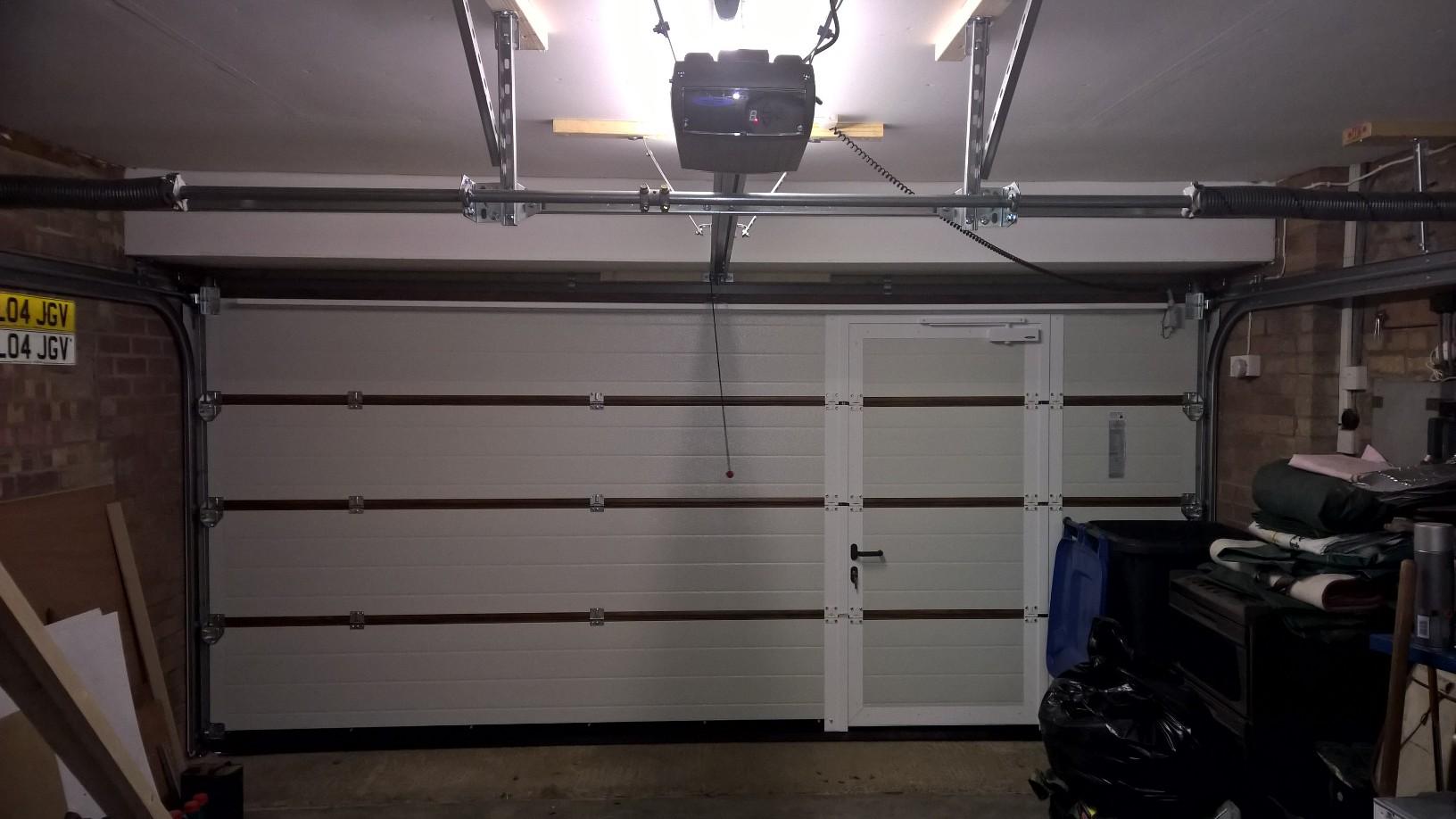 Sectional garage door project in warwickshire elite gd personnel door rubansaba