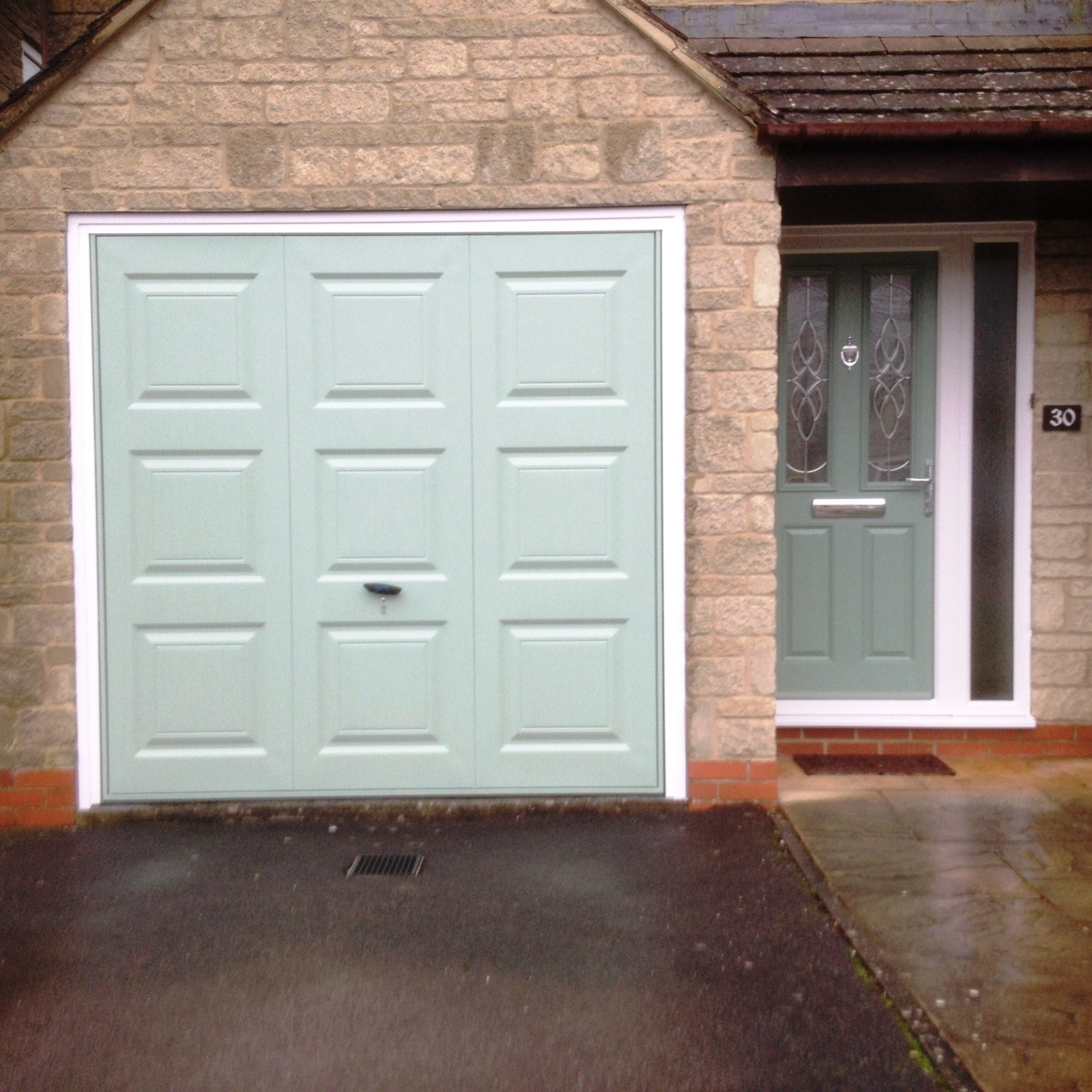 Matching Chartwell Green Garage And Front Door Elite Gd