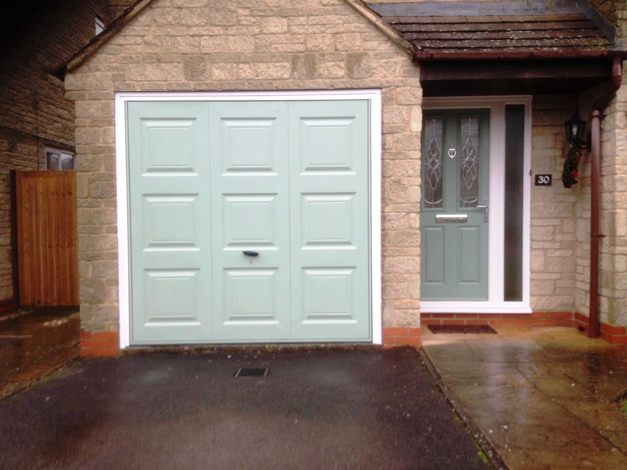 Captivating Matching Chartwell Green Garage And Front Door