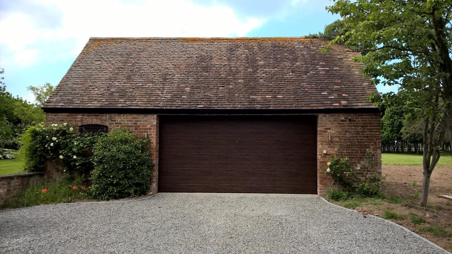 Dark Oak Sectional Garage Door In Gloucestershire Elite Gd