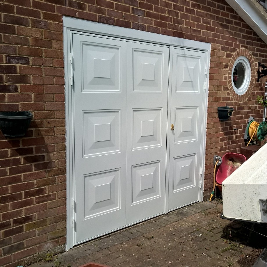 Two Thirds One Third Side Hinged Garage Door In Wantage