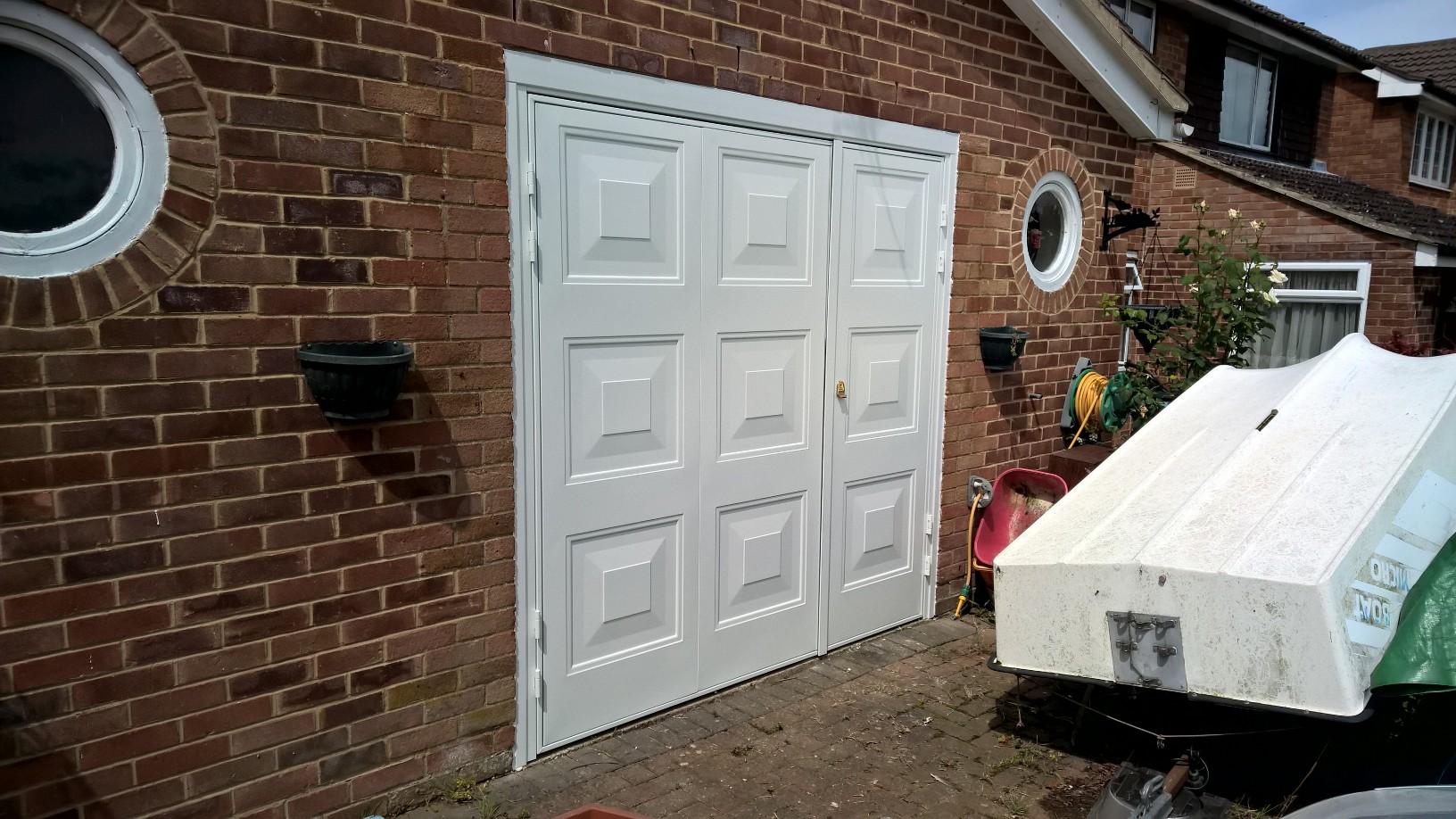 Two thirdsone third side hinged garage door in wantage elite gd georgian regent side hinged rubansaba