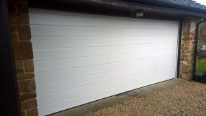 sectional garage door installed in oxfordshire