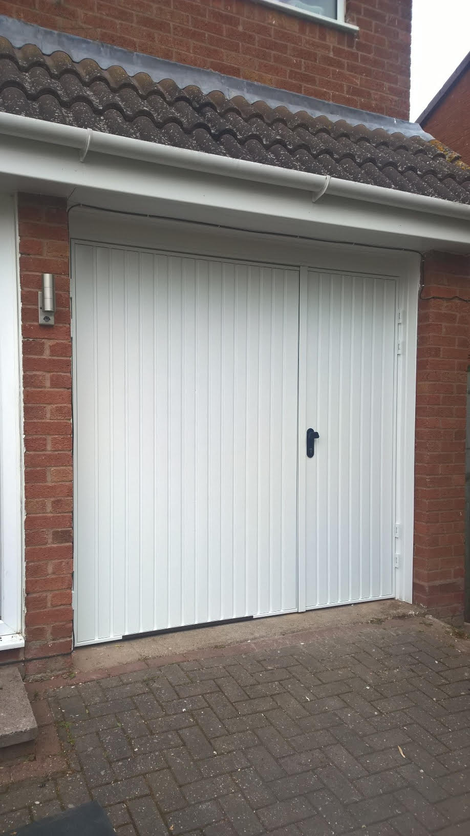 70 30 split side hinged garage door elite gd for Garage side entry door
