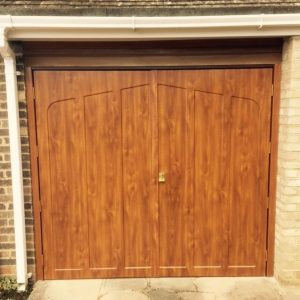 golden oak side hinged