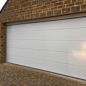 Iso45 Sectional Garage Door In Oyster White Ral 1013 Elite Gd