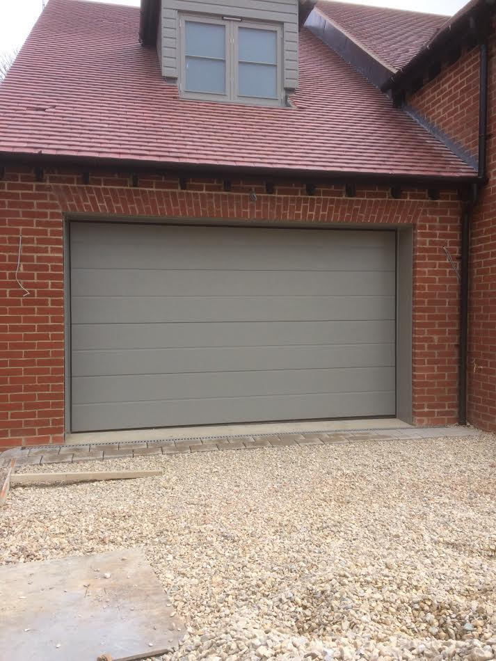 Pair Of Novoferm Iso 45 Large Rib Sectional Garage Doors