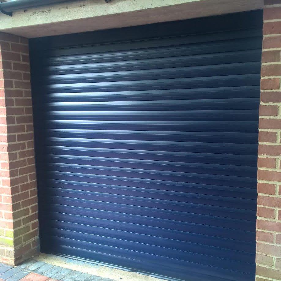 Blue 77 Automated Roller Garage Door In Abingdon Elite Gd