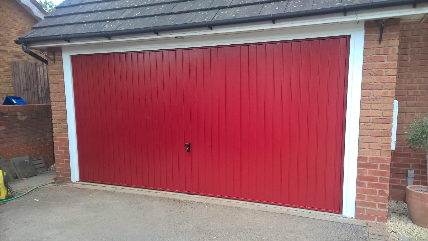 conversion from two single doors to one double garage door57 garage