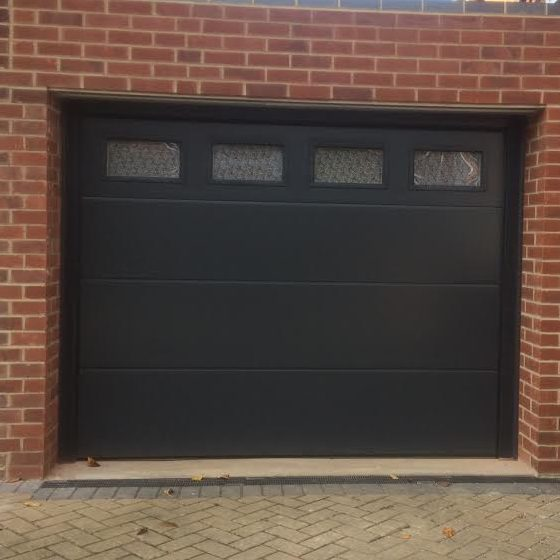 Iso45 Flush Sectional Garage Door With Glazing Elite Gd