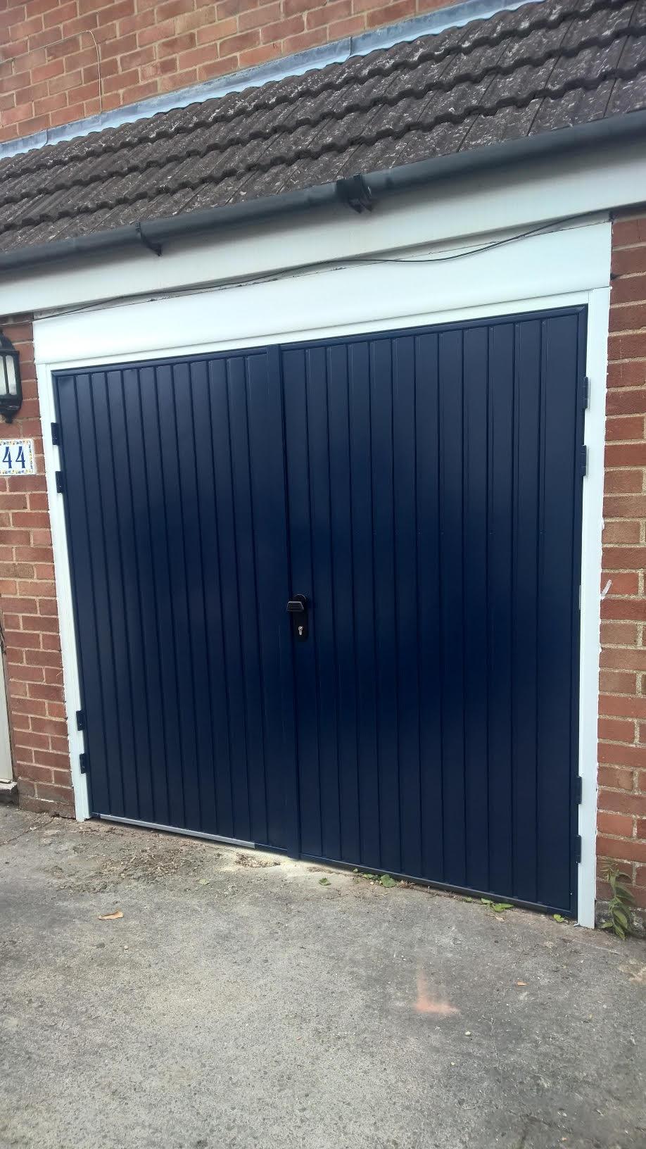 Cardale Midnight Blue Side Hinged Garage Door Elite Gd
