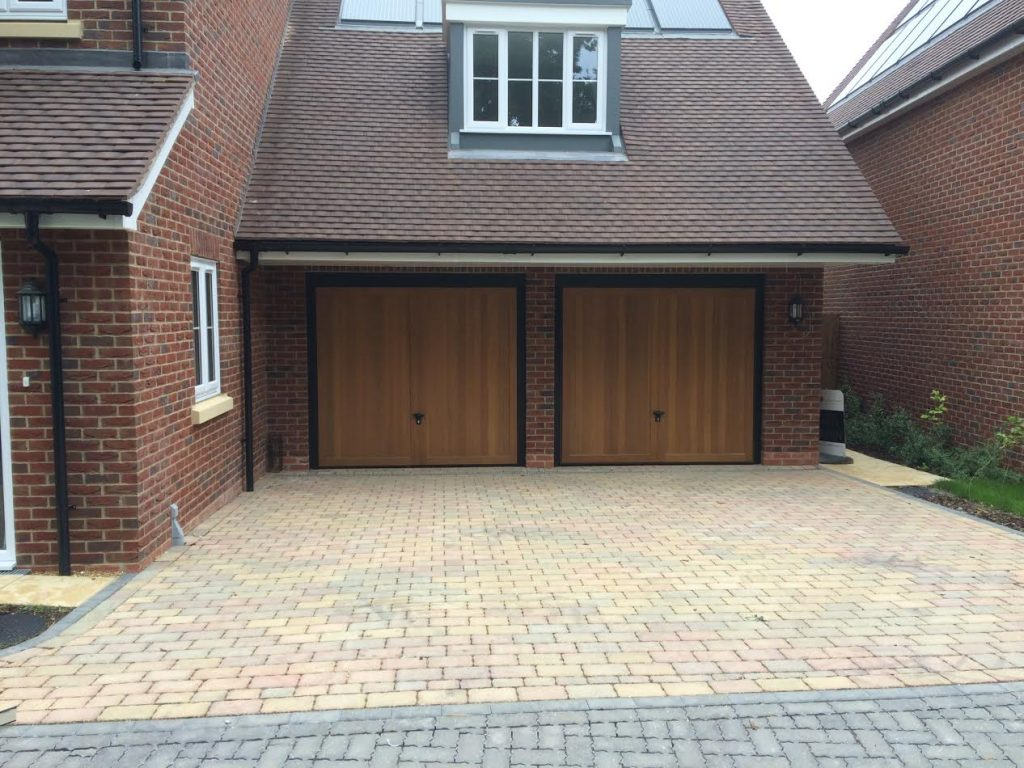 Timber Retractable Garage Door In Spencers Wood Elite Gd