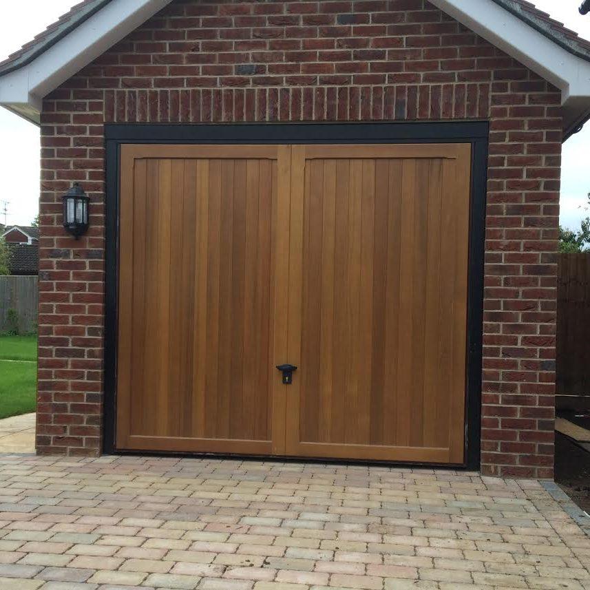 Timber Retractable Garage Door In Spencers Wood Elite Gd