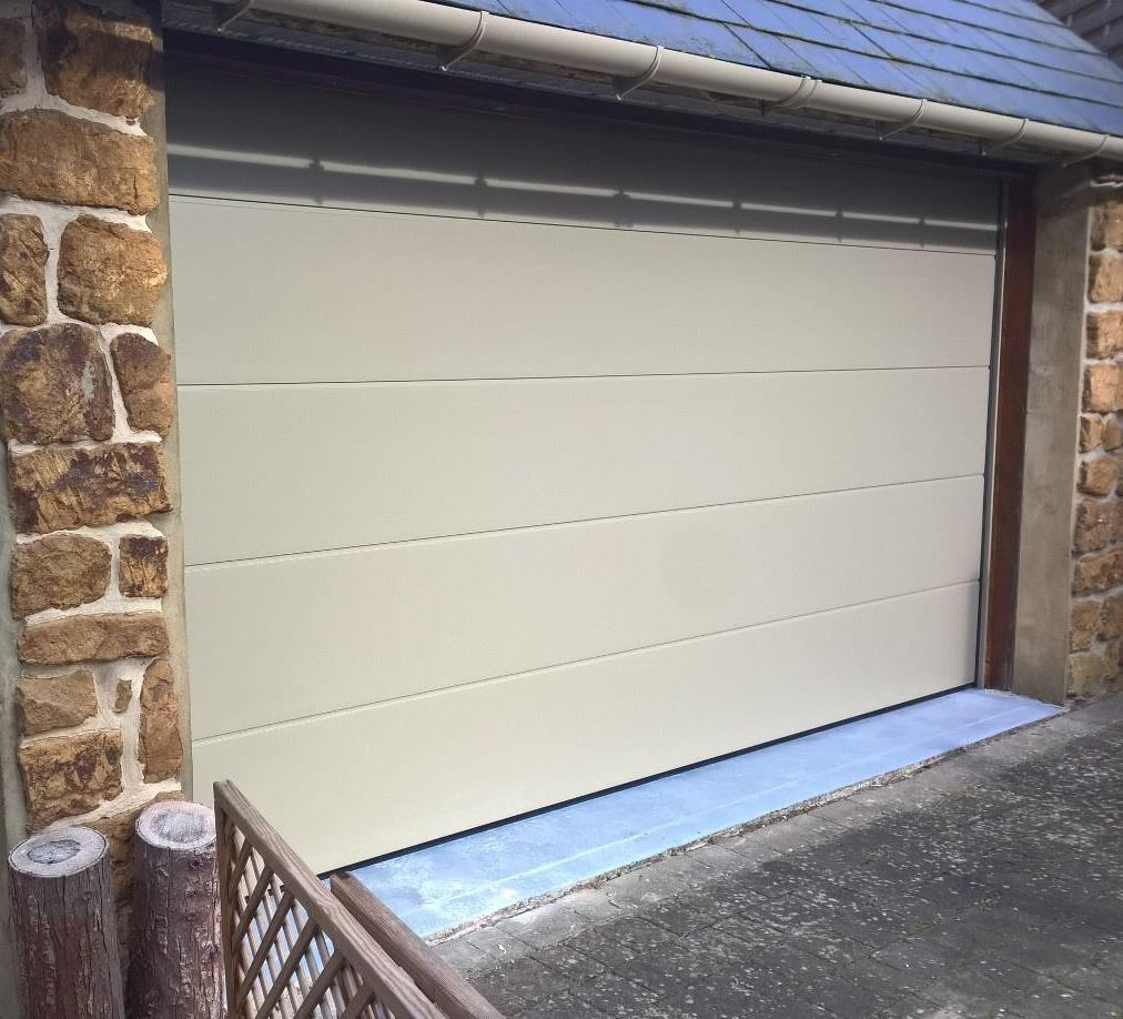iso 45 Flush Sectional Garage Door and Personnel Door in BS 10 B 21 B And Garage on