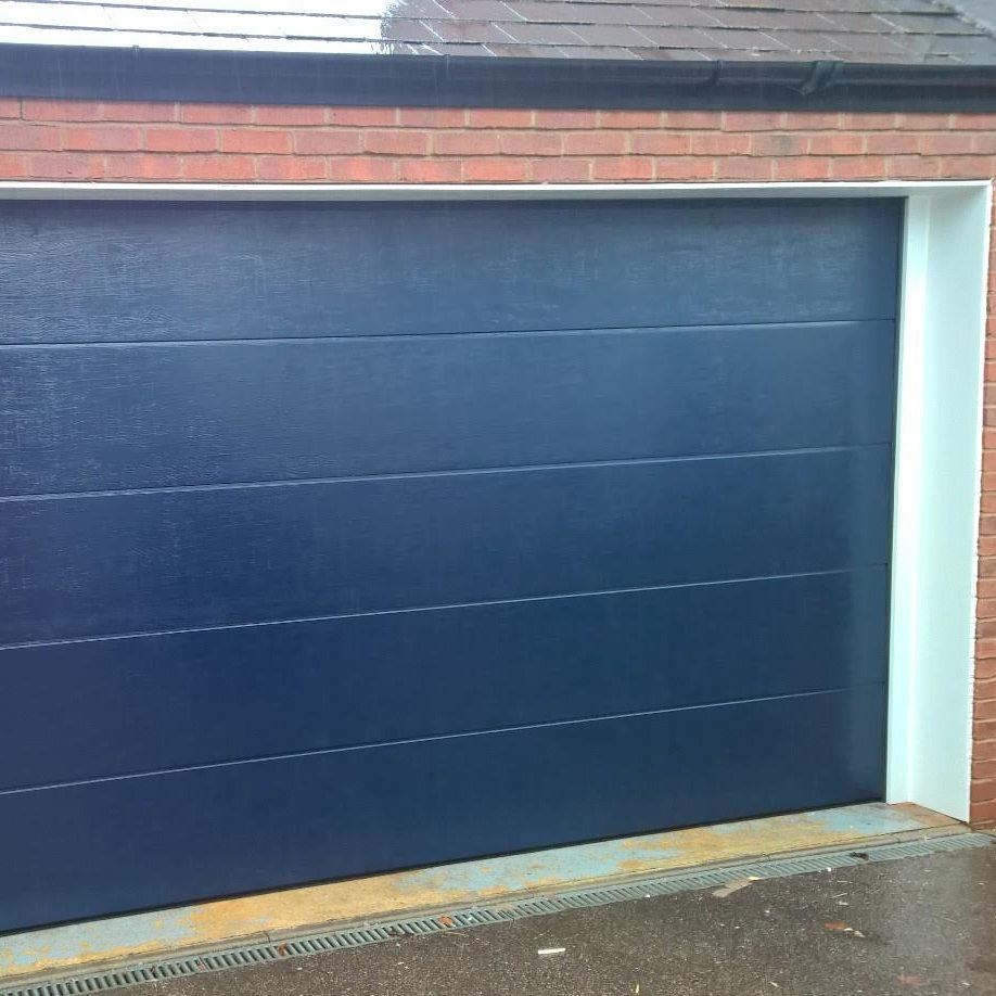 Novoferm Iso 45 Sectional Flush Garage Door In Steel Blue