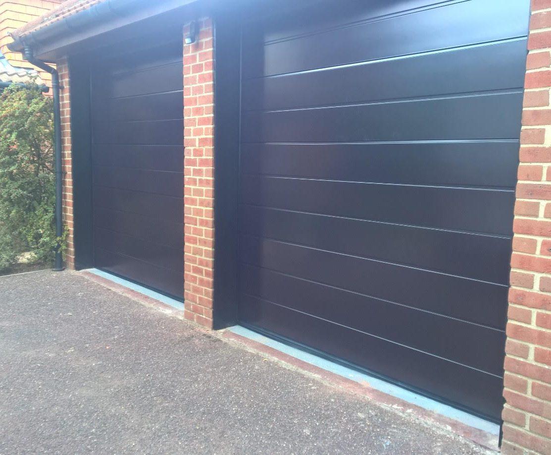 Iso45 Sectional Garage Door In Black Brown Ral 8022 Elite Gd