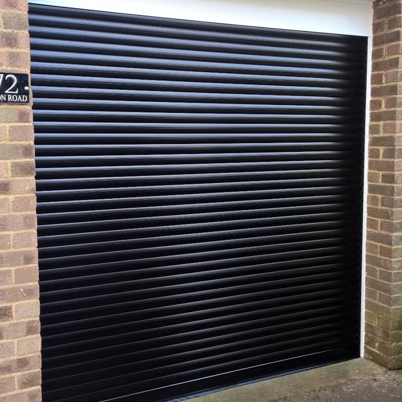 compact roller garage door installed