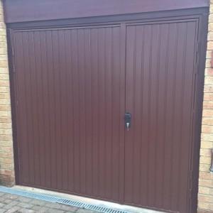steel side hinged garage door installed in wantage
