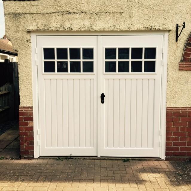 abs side hinged garage door