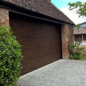dark oak sectional garage door